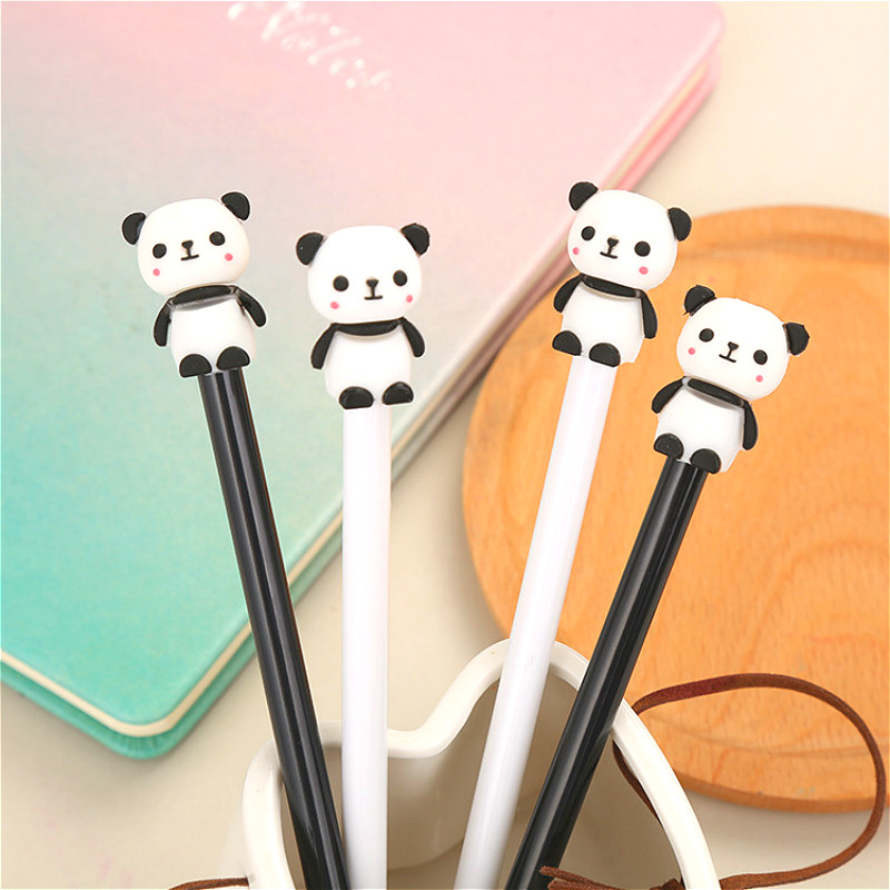 Ballpoint-Pen Stationery Writing-Pens Panda School Kawaii Student 1pcs for Papelaria title=