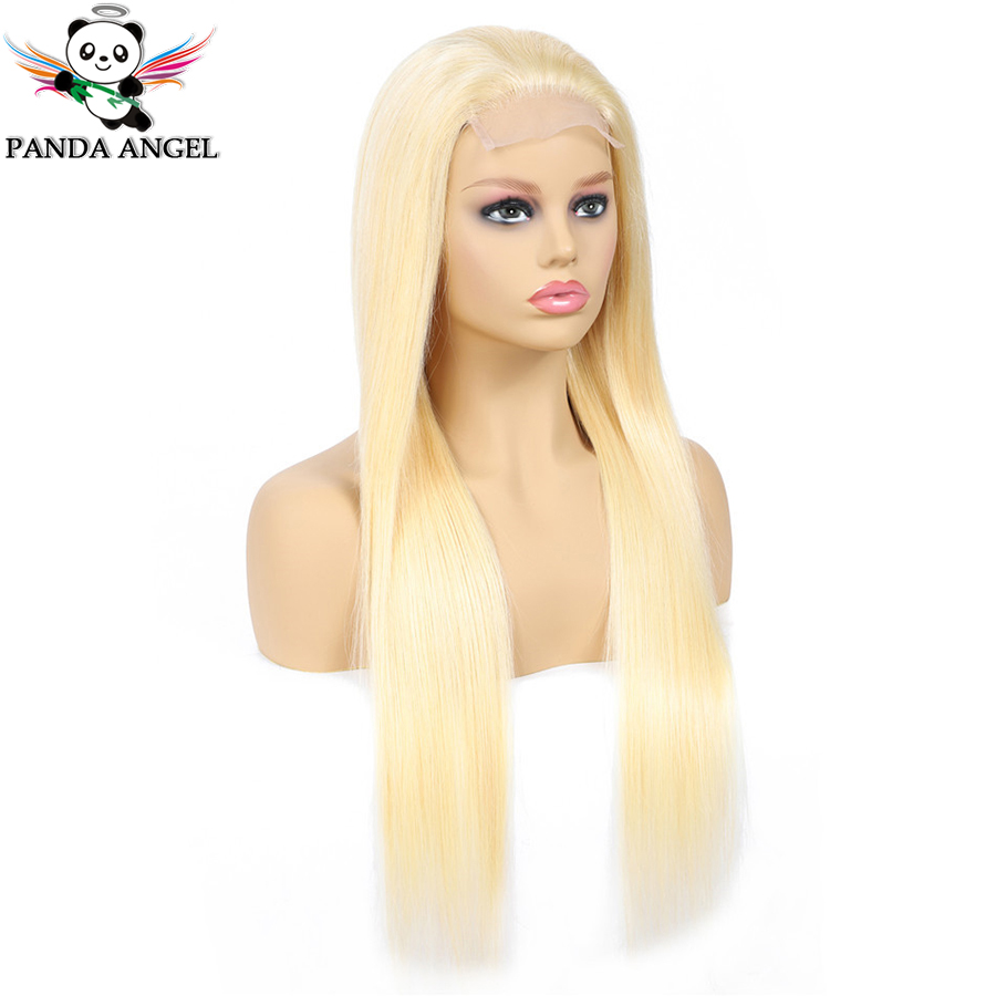 Hf0d77da501874e00b4dc9fcdb0ae0fa2S Panda 4x4 Honey Blonde Lace Wigs #613 Brazilian Hair Ombre Straight Lace Closure Wig 150% Density Blonde Human Hair Wigs Remy