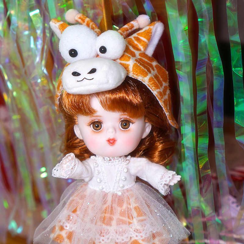 Dream Fairy 1/12 BJD muñeca juguete DODO muñeca traje con diseño de animal zapatos 14cm mini muñeca Cuerpo Conjunto ob11 lindo regalo para niños