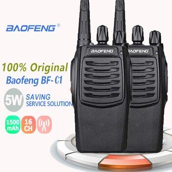 2PCS Baofeng BF-C1 Portable Radio Walkie Talkie UHF Walk Talk 5W 400-470MHz 1500mAh walkie talkie radio baofeng radio scanner недорого
