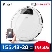 Fmart Robot Vacuum Cleaner Wifi APP Control Wet mopping and Dry Hard Floor Auto Charging 1200PA Powerful Suction Ultra Thin