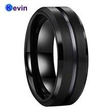 Классическое черное обручальное кольцо из карбида вольфрама