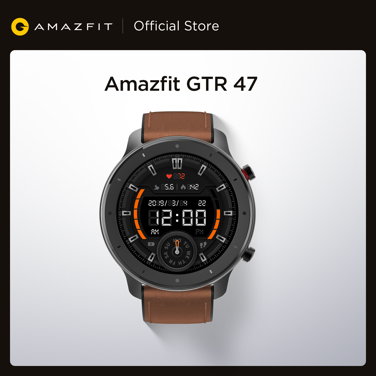 Global Version Amazfit GTR 47mm Smart Watch 5ATM Waterproof Smartwatch 24 Days Battery Music Control Leather Silicon Strap|Smart Watches|   - AliExpress