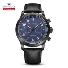 Seagull relógio masculino moda esportes multifunções cinto safira luminosa automática relógio mecânico série piloto 819.33.6080h
