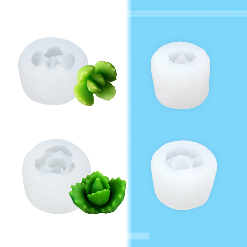 Купить с кэшбэком BAYCHEER Cacti Succulent Plants Silicone Mold for Fondant Dessert Cake Decorating Tool DIY 3D Chocolate Candy Handmade Soap Mold