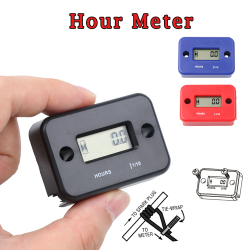 Motorcycle Digital Tach Hour Meter Gauge Stroke Gas Engine Offroad Inductive Tachometer Waterproof Motor Instrument HTM-MD