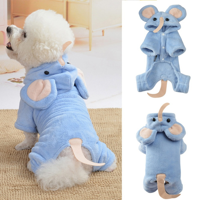 Soft Warm Pet Dog Clothes for Dogs Jumpsuits Fleece Dog Coat Jacket Pet Pajamas Chihuahua Clothing for Dogs Outfit Pets Clothing