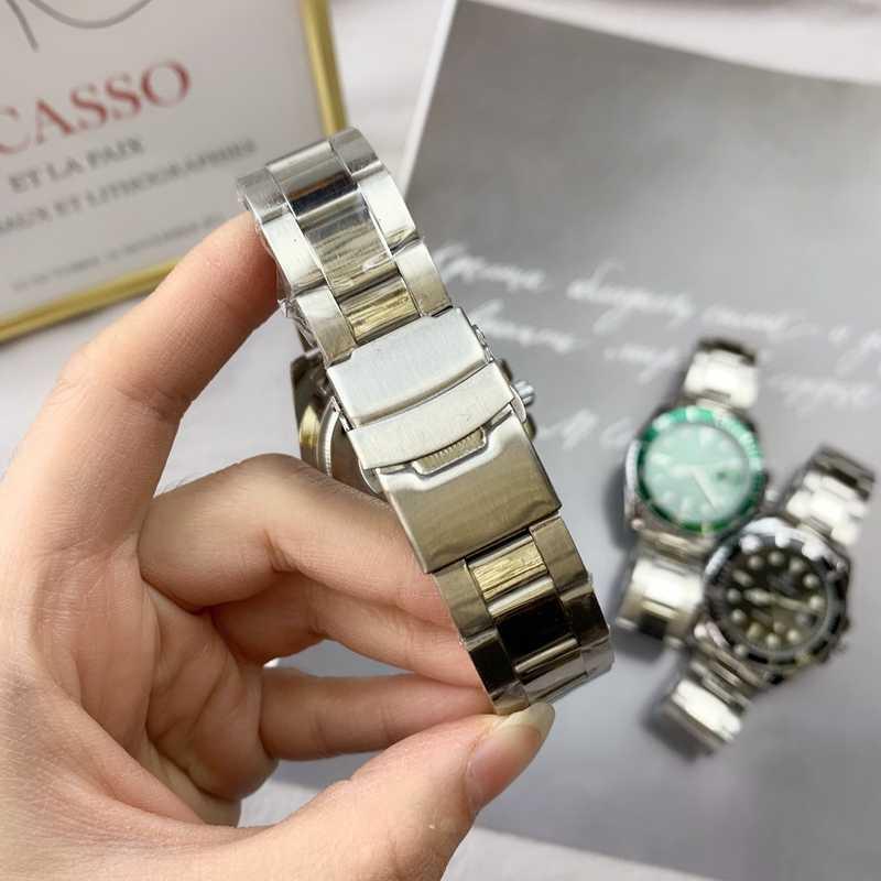 Mode nouveaux hommes montres conception classique noir vert cadran étanche en acier Quartz horloge Relogio Masculina Date Sport montre-bracelet