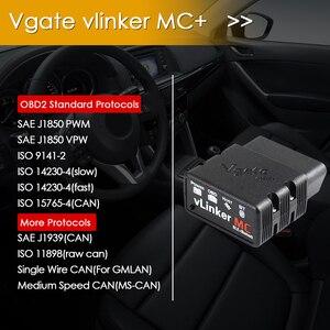 Image 5 - Vgate Vlinker Mc + Elm 327 V2.2 Bluetooth 4.0 Wifi ELM327 Voor Android/Ios Scanner Obd 2 OBD2 Auto diagnostische Auto Tool Pk