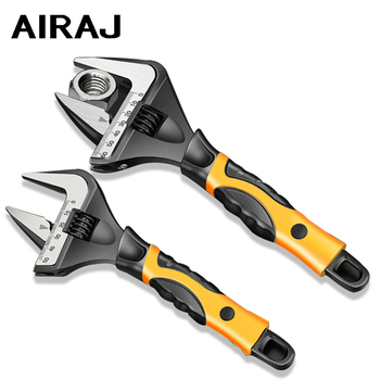 AIRAJ 2020 New Enhanced Bathroom Wrench 6/8/10/12 In Adjustable Wrench Large Open Wrench Tool High Quality Plumbing Repair Tool 46mm plum tap wrench automotive auto repair hand tool high quality steel material overall package hardware tool wrench