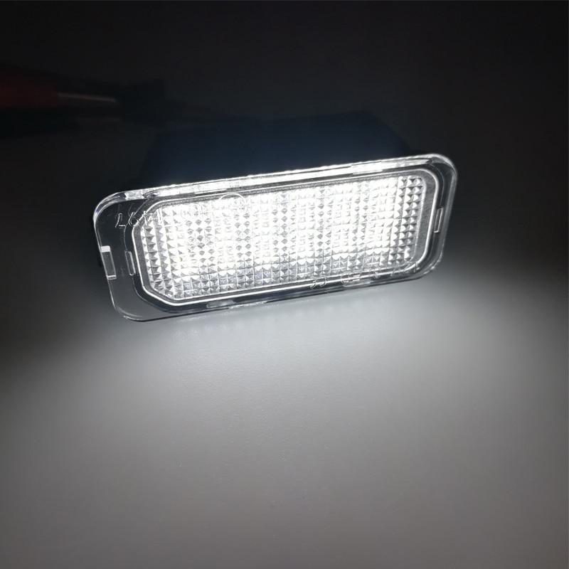 2X LED Number License Plate Light For Jaguar XF XJ Ford Transit Focus C-MAX Escape S-MAX WAGON Kuga Car License Light Plate Lamp