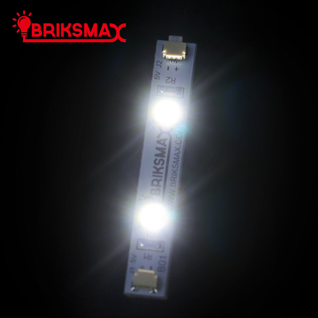 BriksMax Led Light Accessories For DIY 3 PCS/Pack Colorful Strip Lights With Adhesive Compatible With Building Blocks  2