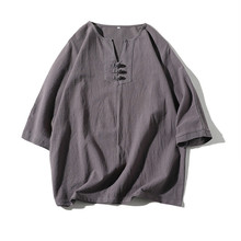 Summer Fashion Mens Cotton And Linen Short Sleeve Shorts Set Suit Tracksuit  DL