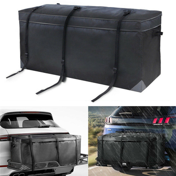 Car Cargo Roof Bag Waterproof Cargo Travel Luggage Bag Basket Car Roof Top Rack Carrier Travel Universal Strong Straps image
