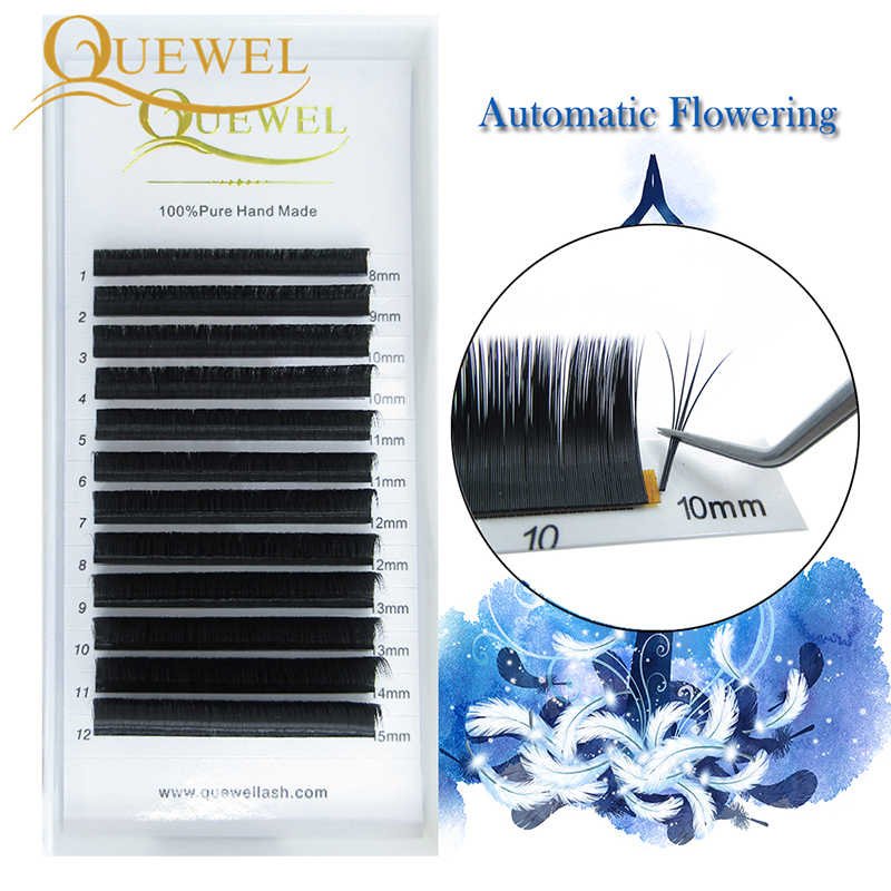 Quewel Easy Fanning Eyelash Extension Blooming Volume Eyelashes Self-making Fast Fans Bloom Lashes Extension Volume Lash