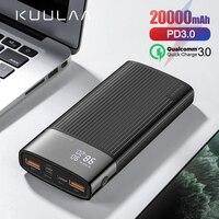 Kuulaa 20000 mah power bank for iphone 삼성 화웨이 타입 c pd 고속 충전 + 빠른 충전 3.0 usb 파워 뱅크 외장 배터리|보조 배터리|전화기 & 통신 -