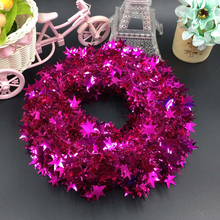10 Pcs Multi-color Christmas Tree Strips Wire Stars Decorations for Home Party Ornaments