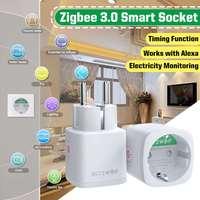 BlitzWolf BW-SHP13 3680W 16A EU Plug Zigbee 3.0 Smart WIFI Presa per presa APP Telecomando Timer Smart Wifi Presa per presa funziona con Alexa Supporto Google Home Monitoraggio del consumo energetico
