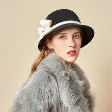 Очаровательная Женская модная фетровая шляпа контрастного цвета с цветком, берет, романтическая шляпа для художника во французском стиле, Разноцветные Теплые вечерние шляпы