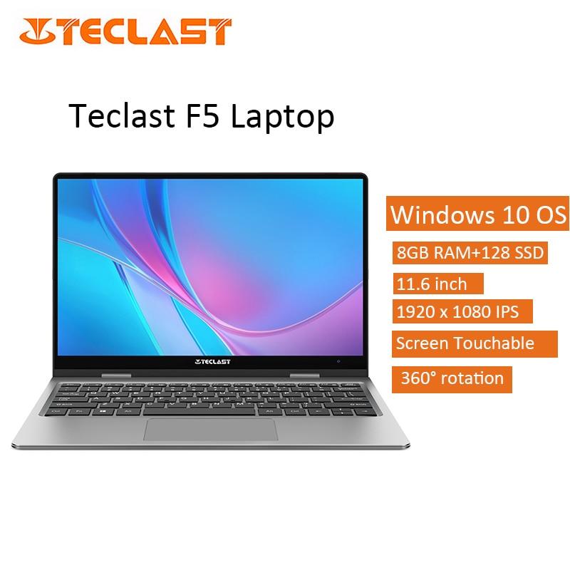 11.6 inch Teclast F5R Touch screen Laptop Rotation Intel Windows 10 OS Intel Quad Core 1.1GHz CPU 8GB RAM 256GB SSD Notebook