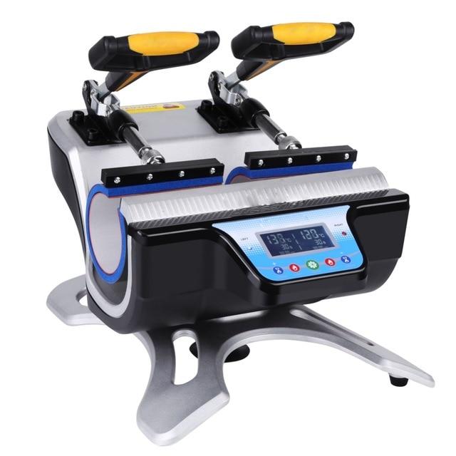 Offre spéciale ST-510 Double Station tasse presse Machine Sublimation presse à chaud Machine pour 6oz ,9oz .11oz ,12oz,17oz tasses impression