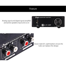 Vacuum Tube Valve Integrated Amplifier Mini Audio Stereo Headphone Amp US Plug GV99 k guss a1 vacuum tube headphone amp 6k4 6j1 low ground noise integrated stereo amp audio hifi output protection for headphone