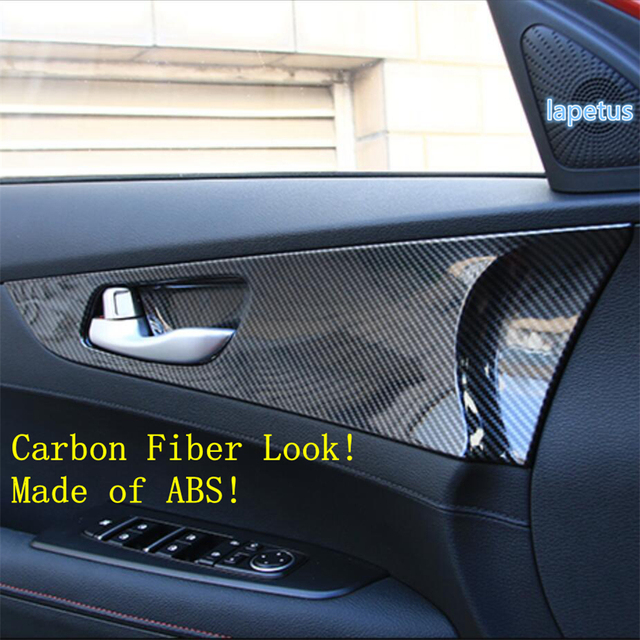 Lapetus Inner Door Pull Handle Bowl Decoration Panel Cover Trim Fit For Kia Forte / Cerato / K3 2019 2020 ABS Carbon Fiber Look 5