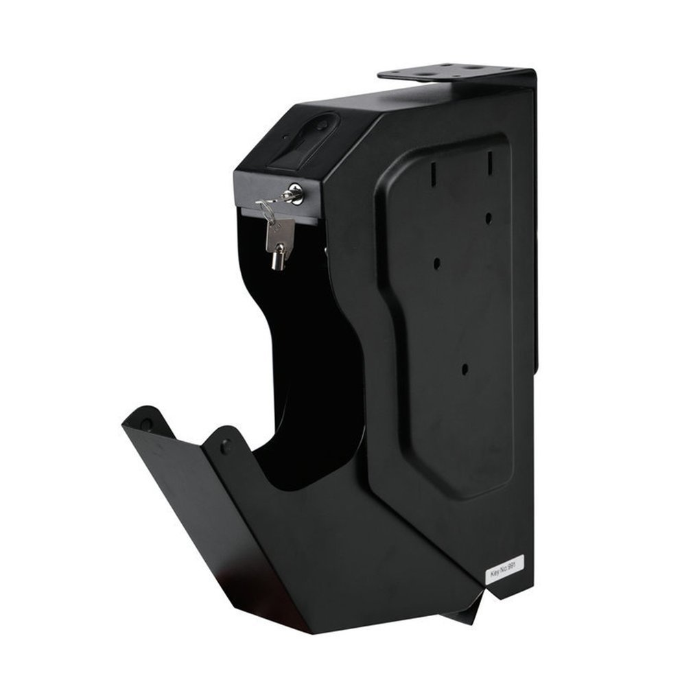 Biometric Fingerprint Safe Box Cold-rolled Steel Security Gun Strongbox Portable Key Valuables Jewelry Storage Box