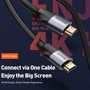 Image 2 - Baseus HDMI Kabel 4K 60HZ HDMI zu HDMI 2,0 erweiterung Splitter Kabel für TV Schalter Projektor Laptop Büro video Kabel HDMI