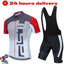 2021 RACING Cycling Team Jersey 19D Bike Shorts Set Ropa Ciclismo MenS MTB Uniform Summer Pro Bicycling Maillot Bottom Clothing