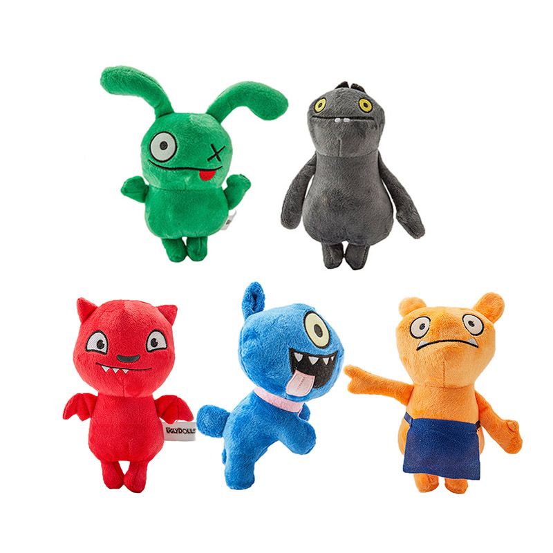 18 CM 5 Styles Uglydoll Plush Toy Cartoon Anime Ox Moxy Babo Uglydog Soft Stuffed Plush Dolls Ugly Gifts For Children Kids