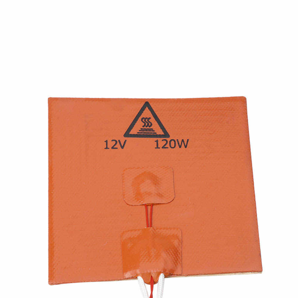 Silicone Heater 120mm x 120mm 120W 12V Verwarming Pad Deel voor Creality CR-10 3D Printer AS99