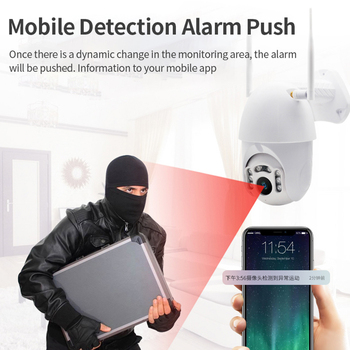 Q1 Outdoor PTZ Wireless IP Camera Move Detection Infrared Night Vision Waterproof Surveillance RJ45/Wifi Dome CCTV Camera 2