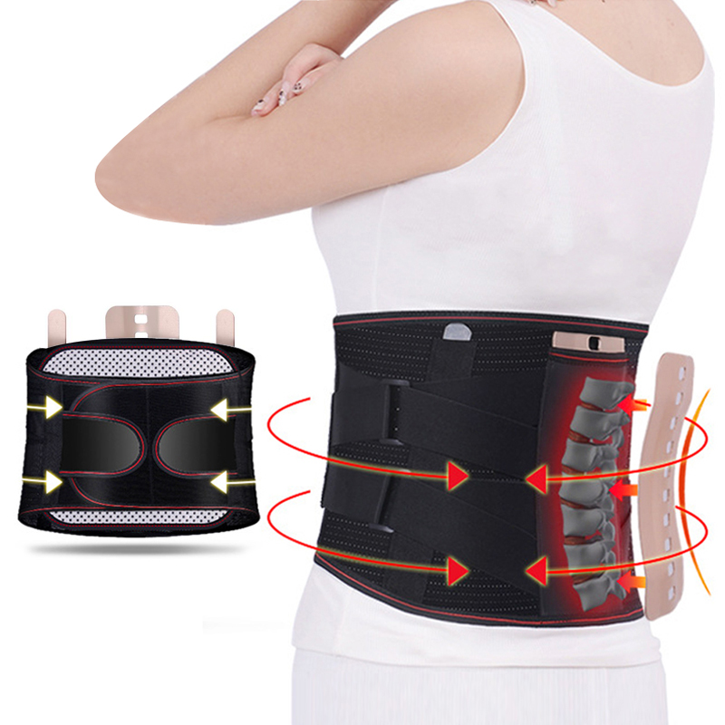 Lumbar Support Belt Lumbar Disc Herniation Medica Strain Pain Relief Waist Back Lumbar Spine Brace Men Adjustable Elastic Fixed