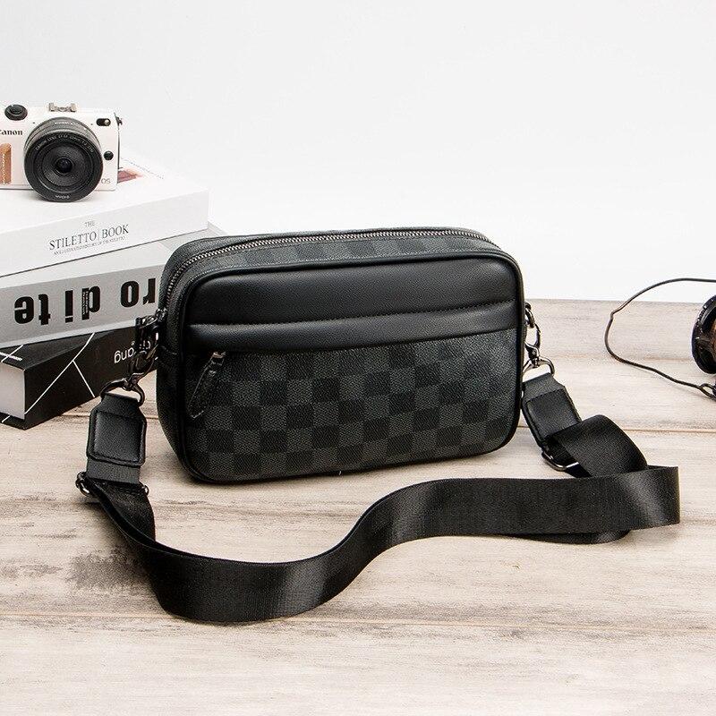 Men Casual Business Leather Shoulder Messenger Bag Men's Crossbody Male Vintage Crossbody Laptop Briefcase Messenger Bags