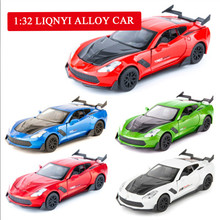 1:32 Collection of gifts Lycan sports car alloy model,simulation metal casting sound and light pull back model,free shipping