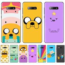 adventure time cute Beemo BMO Jake Finn Lumpy black Phone Case For Samsung Galaxy S5 S6 S7 S8 S9 S10 S10e S20 edge plus lite adventure time backpack with finn and jake cn bmo backpack beemo be more cartoon robot high grade pu green