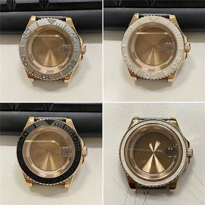 Image 2 - For Miyota 8215 8200 821A Watch Movement Replacement 40MM Stainless Steel Rose Gold Watch Case for Mingzhu 2813 Watch Parts