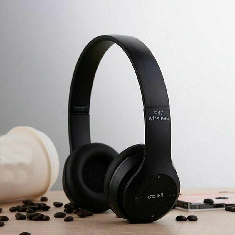 P47 Bluetooth Headsets Wireless Foldable Stereo Headphones With Mic For PC Mobile Phone Support SD TF Card Super Bass Earbuds
