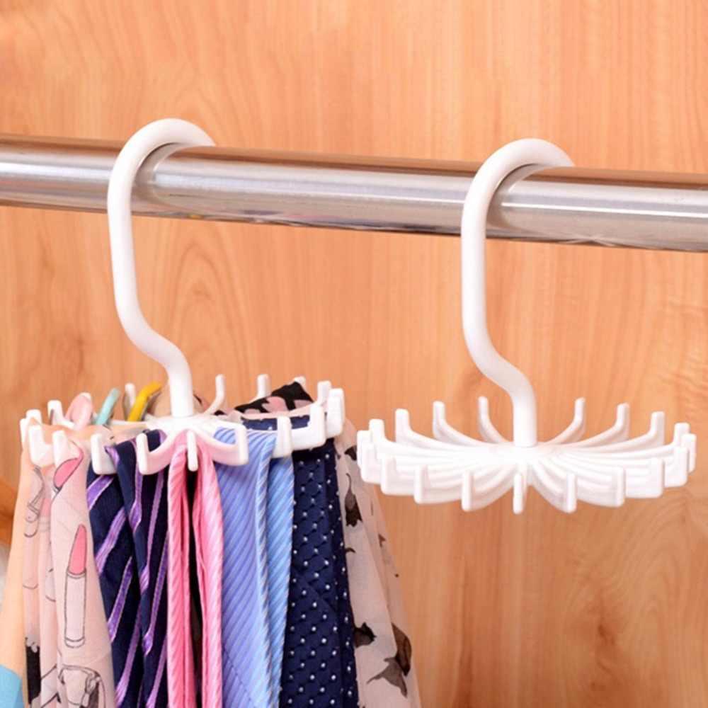 1Pc Rotanti Tie Rack Regolabile Tie Gancio Contiene 20 Neck Ties Organizer Uomini Per Armadio Rotante Gancio Del Supporto Cinture sciarpa Gancio