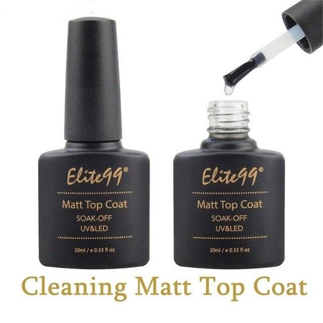 Elite99 Basis und Top Coat Gel Nagellack UV 10ml Transparent Soak Off Primer Gel Polnischen Gel Lack Nagel kunst Maniküre Primer