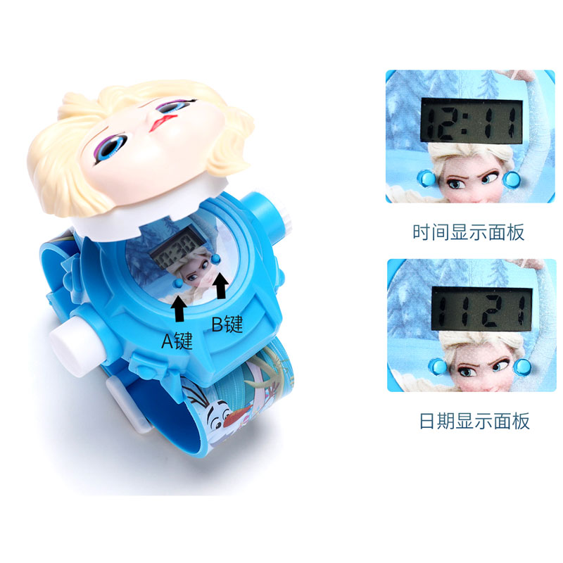 Hf0da32b38b084f65904054a856699c07h - The 3 D Projection Children Watch Cartoon Ultraman Spiderman Ironman Princess Digital Watches Kids Watches Toy