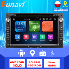 Eunavi 2 Din Android Car Radio Auto DVD GPS For VW PASSAT B5 B4 JETTA BORA GOLF 4 SHARAN POLO MK5 MK4 MK3 T5 TRANSPORTER WIFI BT tanie tanio CN(Origin) Double Din RoHS 4*45W 256G Android 9 0 DVD-R RW DVD-RAM Video CD JPEG ABS+Metal 1024*600 Bluetooth Built-in GPS