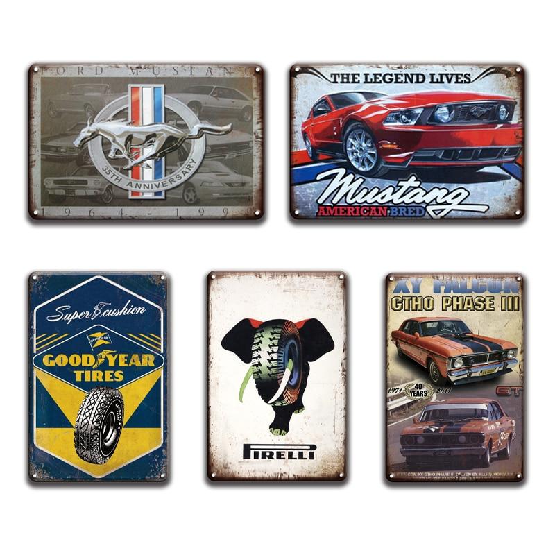 New Corvette Tin Metal Poster Sign Vintage Retro Ad Style Man Cave Racing Garage