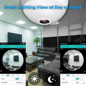 Image 5 - 960 1080P パノラマカメラ Wifi 電球 360 度 Cctv のホームセキュリティビデオ監視無線 Lan ナイトビジョン双方向オーディオ