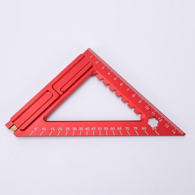"1PC 5.9""x5.5 Measuring Frame Ruler Art frames Drawers Furniture Cabinets Engineering Measuring Tool H9EB"