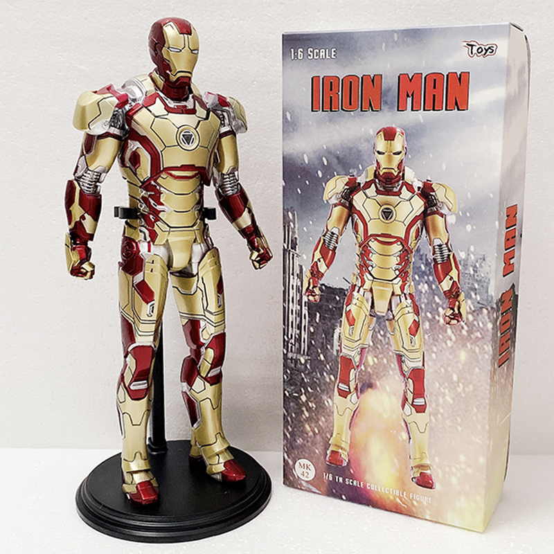 12inch  30CM IRON MAN MARK XLII 42 Collectible Mark42 Action Figure Statue Toy And Doll Gifts