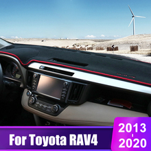 For Toyota RAV4 2013 2014 2015 2016 2017 2018 2019 2020 Car Dashboard Cover Mats Avoid Light Pad Sun Shade Carpets Accessories light transmission wind deflector for toyota rav4 rav 4 2013 2014 2015 2016 2017 rain window visor for toyota rav4 2013 2017