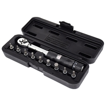 1/4Inch Dr 2-14Nm Bike Torque Wrench Set Bicycle Repair Tools Kit Ratchet Mechanical Torque Spanner Manual Wrenches