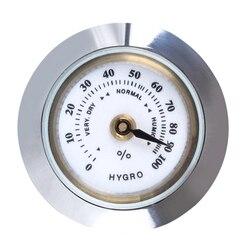 28mm Mini Round Cigar Hygrometer High Precision Moisture Meter Tobacco Humidor Humidity Gauge